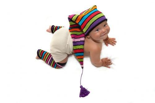 Как связать детскую шапку буратино